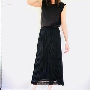 Black accordion skirt